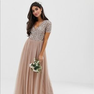 ASOS Petite Dresses - Petite maxi tulle dress with sequins